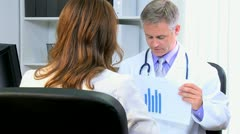 Business Advisor Meeting Medical Doctor - stock footage