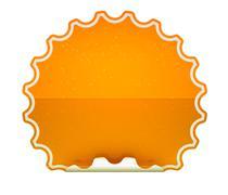 orange spotted hamous sticker or label - stock illustration