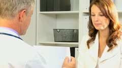 Medical Consultant Meeting Banking Advisor Stock Footage