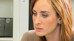 Portrait Female Caucasian Hospital Consultant Stock Footage