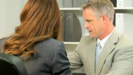 Close Up Financial Advisor Business Client Stock Footage