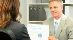 Female Assistant Meeting with Business Manager Stock Footage