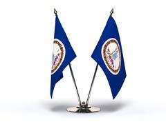 miniature flag of virginia - stock illustration