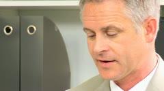 Portrait Successful Male Caucasian Business Advisor Stock Footage