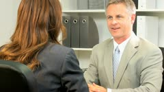 Close Up Financial Advisor Business Client - stock footage
