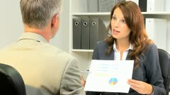 Financial Advisor Greeting Business Client Stock Footage