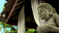 sculpture and peace - stock footage