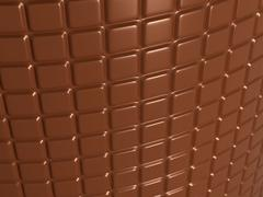 confectionery and sweet food: chocolate bar - stock illustration