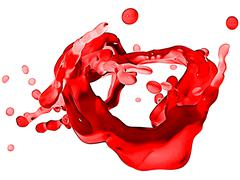 splash of red wine with droplets isolated - stock illustration