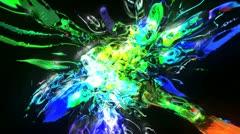 VJ-Set-Color-Explosion-Loop 25 Stock Footage
