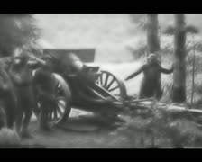World War 1 - Artillery Fire Stock Footage
