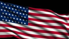 Flag of  USA Stock Footage