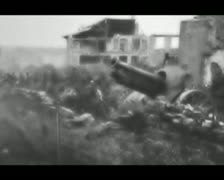 World War 1 - Artillery - stock footage