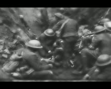 World War 1 - Digging Stock Footage