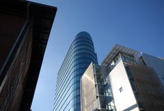 mediahafen dusseldorf - stock photo