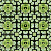 arabic pattern mosaic - stock illustration