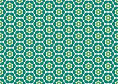 wallpaper with color flowers do emerald - stock illustration