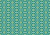 Stock Illustration of wallpaper with color flowers do emerald