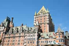 chateau frontenac in quebec city - stock photo