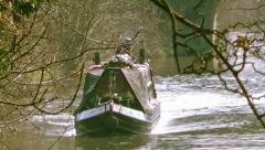 Canal Boat - stock footage