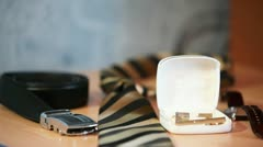 Groom's Accessoires Stock Footage