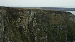 Pan of Cliff head Stock Footage