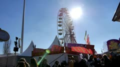 funfair - stock footage