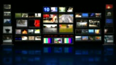 HD - TV studio. Blurred background with reflection Stock Footage