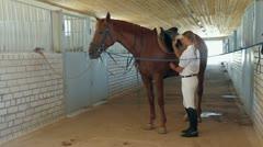 Saddle Preparation Stock Footage