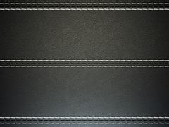 Black horizontal stitched leather background Stock Illustration