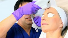 Stock Video Footage of Senior Caucasian Female Cosmetic Surgeon Close Up