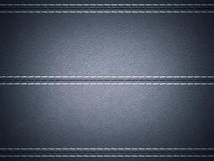 Dark blue horizontal stitched leather background Stock Illustration