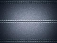 Stock Illustration of dark blue horizontal stitched leather background