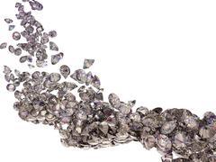 Large diamonds flow isolated Stock Illustration