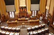 Empty Georgia State Senate Chambers Stock Photos