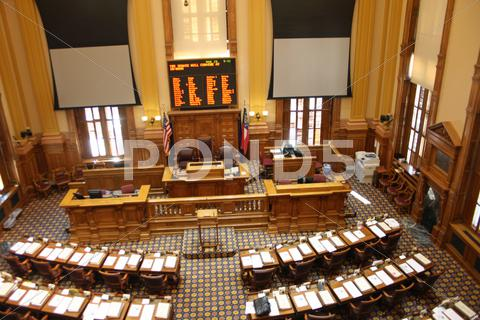 Stock photo of Empty Georgia State Senate Chambers