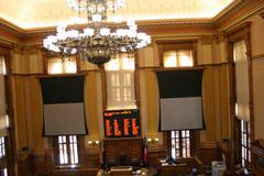 Empty Georgia State Senate Chamber - stock photo