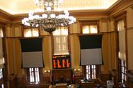 Stock Photo of Empty Georgia State Senate Chamber