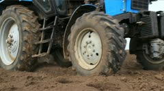 Tractor ploughing - stock footage