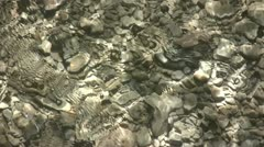 Water Flowing Over A Stoney Riverbed 4 Stock Footage