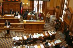 Georgia State Senate in Session Stock Photos