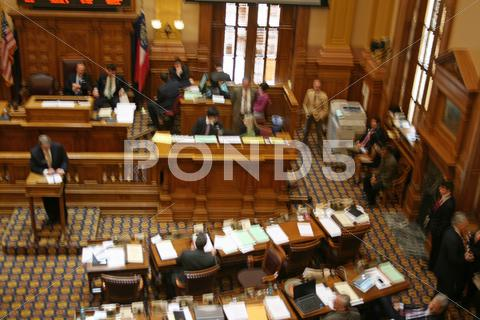 Stock photo of Georgia State Senate in Session