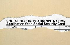 social security form - stock photo