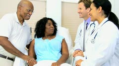 Older Female Patient Receiving Medical Treatment - stock footage