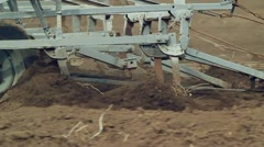 Plows in work Stock Footage