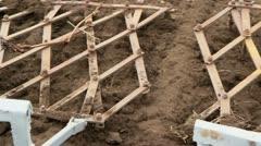 Plows On Rural Farmland Stock Footage