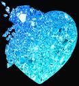 Blue broken heart: unrequited love Stock Illustration