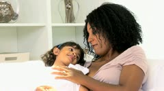 Loving Young Ethnic Mother Daughter Stock Footage