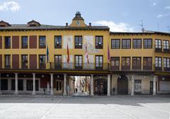 Plaza mayor, tordesillas Stock Photos