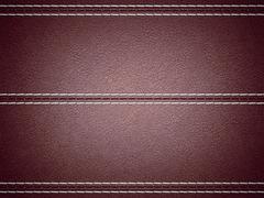 maroon horizontal stitched leather background - stock illustration